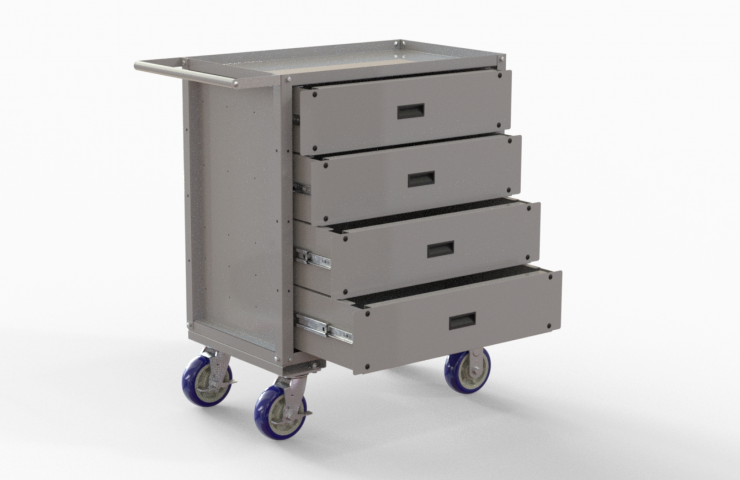 Boston Cart with utility drawers